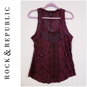 Rock and Republic Tank  New w/tags